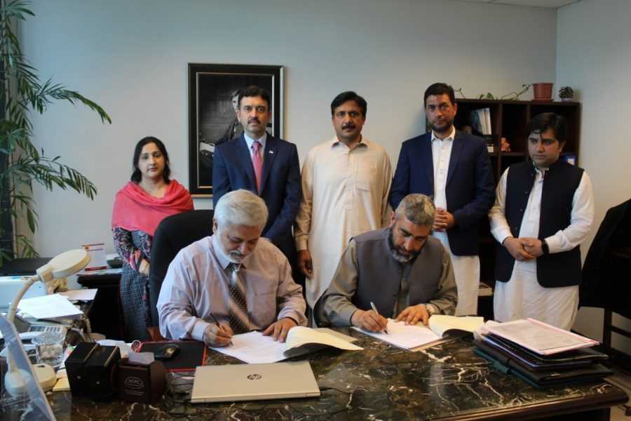 Contract Agreement signing ceremony between NESPak Ltd and University of Swat for Master Planning, Detail Designing and Construction Supervision