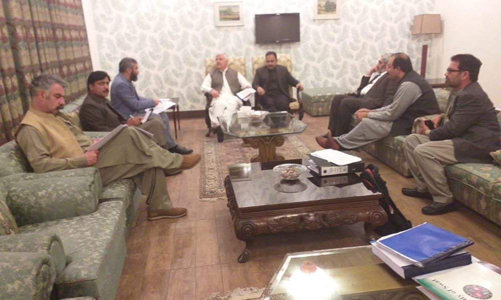 Meeting regarding Progress Review of the University of Swat Projects. Land for construction of women Campus