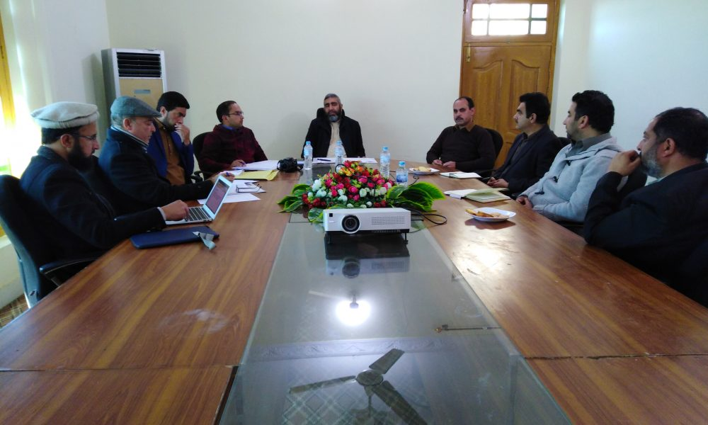 Meeting chaired by Mahboob sb regarding 2nd Convocation scheduled in April 2020 tentatively